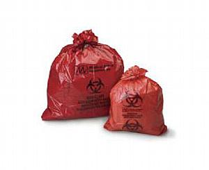 "Biohazard Infectious Waste Bags, 23"" x 23"", Case/500"