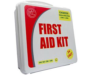 50 Person ANSI/OSHA First Aid Kit, Plastic Case