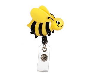 Deluxe Retracteze ID Holder, Bee, Print