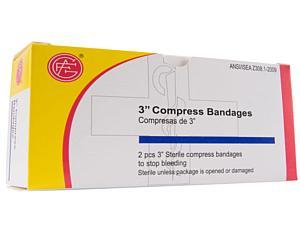 "Compress Bandage, Off Center, 3"", Box/2"""
