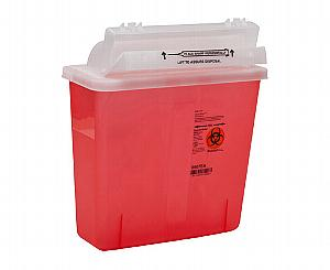 SharpSafety Safety In Room Sharps Container, 5 Quarts