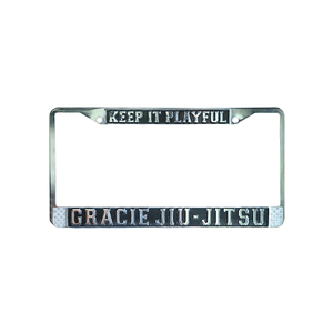 """Keep it Playful"" Gracie Jiu-Jitsu Chrome License Plate"