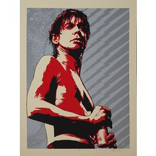 "Jeff Boyes ""Iggy Pop Red"" Signed Screen Print"