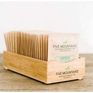 Bamboo Tea Bag Display Tray - Natural